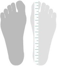 Fußlänge bestimmen