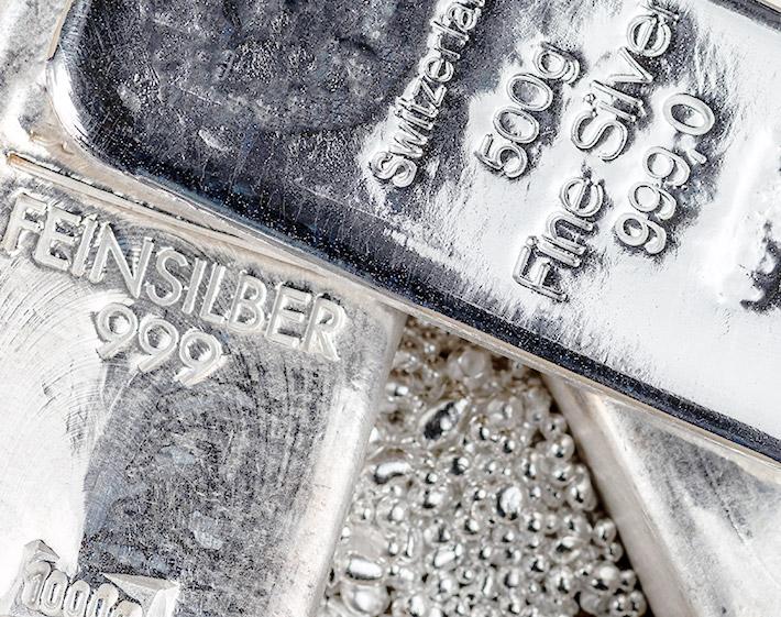 Silberringe das Metall