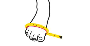 Schuhweite messen 3D-Ansicht