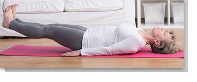Inkontinenz-Übung Bein heben