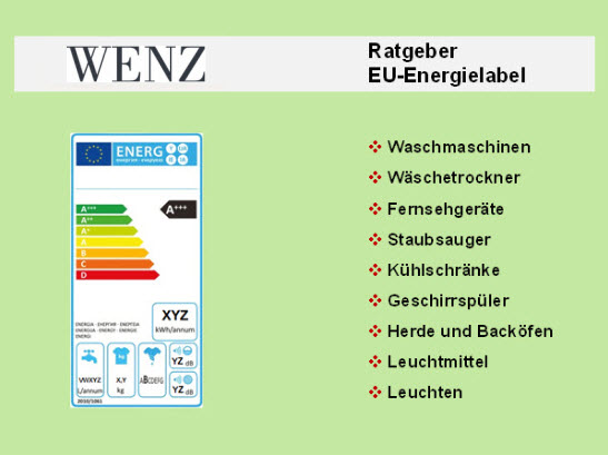 WENZ Energielabel Ratgeber