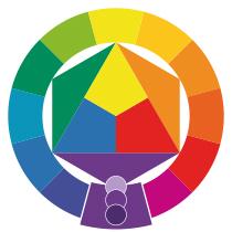 Farbkombinationen Violett