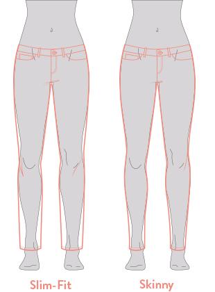 Die Slim-Fit-Jeans