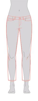 Die 7/8-Jeans