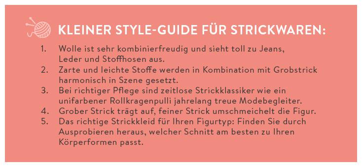 Kleiner Style-Guide für Strickwaren