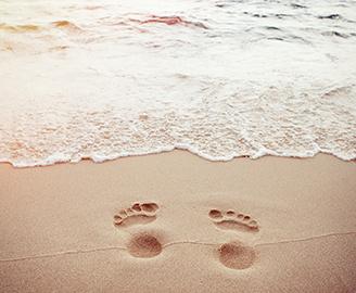 Trittschaumanalyse zur Fußvermessung