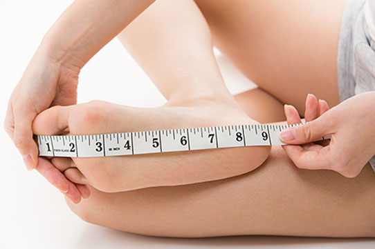 Fußlänge messen